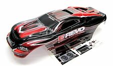 Brushless E-REVO BODY shell (RED and BLACK Shell & Decals) 1/10 Traxxas #5608