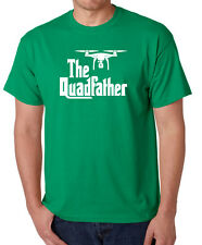 THE QUADFATHER funny T-Shirt godfather movie drone pilot uav plane aviation tee