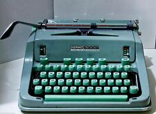 HERMES 3000 Manual Typewriter Green Case + Instruction booklet + 2 New Ribbons