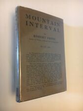 Robert Frost, Mountain Interval, 1st Edition In Rare Jacket, Poetry, Poems