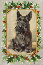 Scottish Terrier Dog 1930s Lucy Dawson MAC  New LARGE Blank Christmas Note Cards