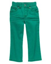 Gymboree Monstro-politan Monster Green Colored Skinny Jean Pants Boys 2T NEW NWT