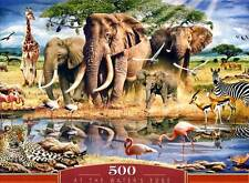 Castorland Puzzle At the Water's Edge Big 5 Five Afrika Elefanten Giraffen Zebra