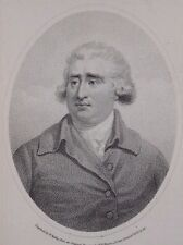 """Charles James """"Fox"""" engraving after Brown by Ridley for Cooke 1796"""