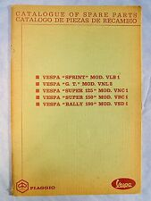 RARE OEM Multi-Model Catalog of Spare Parts for Vintage Vespa Scooters- NR!!!