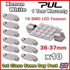 10x 16 SMD LED Festoon Bulb Light 36mm 37mm Car Interior Dome SUPER BRIGHT WHITE