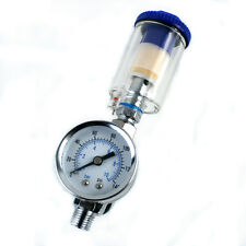 Scratch Doctor Spray Gun Air Regulator Gauge & In-line Water Trap Filter