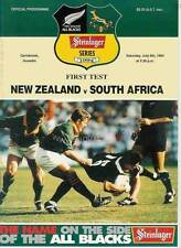 New Zealand v South Africa - 1st Test - 9 Jul 1994 - Dunedin RUGBY PROGRAMME