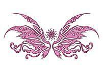 Glitzer Tattoo Schmetterling 62 - Einmal-Tattoo von Art-Tattoos