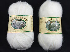 Lion Brand Wool-Ease Yarn 2.5 oz One Skein White Frost 501 One White Multi 301
