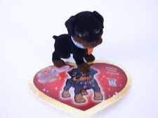ZULL ou GERTRUDE le Rottweiller + sa carte - Puppy  in my Pocket  Série 1