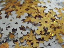 Silver & Gold Holographic Christmas Snowflake Sequins Embellishments - 8g Pack