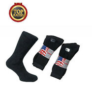 10 Pairs Men's Royal Collection WASHINGTON Premium Socks: Unisex UK 6-11 [BLACK]