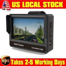 """US Portable AT430A 4.3""""LCD 1080P AHD,CVBS CCTV Camera Test Monitor 12V DC Output"""