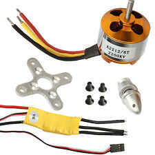 RC 2200KV Brushless Electric Motor 2212-6 + 30A ESC for rc plane helicopter UK