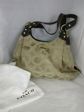 Coach Women's 14305 Gold Madison Maggie Sateen Patent Leather Shoulder Hobo Bag