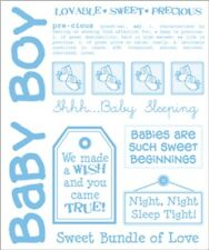 SRM PRESS SAY IT WITH STICKERS SWEET BABY BOY CLEAR SCRAPBOOK STICKERS