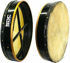 "18"" GREEN BODHRAN with CASE 2 Beaters SDC-18BODGR"