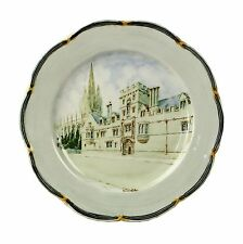 Spencer Edge Hand Painted All Souls Vintage Oxford Souvenir Plate Dish c1900