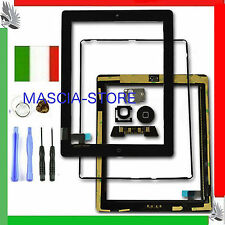 TOUCH SCREEN Vetro IPAD 2  Schermo ASSEMBLATO TASTO HOME per Display WIFI 3G