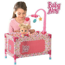 BABY ALIVE DOLL DELUXE PLAYARD / PLAY YARD WITH MOBILE Fabulous Girls Present