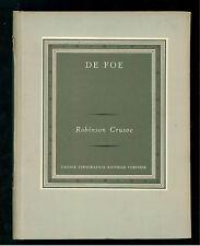 DE FOE DANIEL ROBINSON CRUSOE UTET 1959 I GRANDI SCRITTORI STRANIERI V 103 104