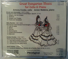 Great Hungarian Music for Cello & Piano by Armin Watkins CD Prodigital Rec. A532