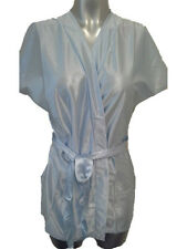 Baby Blue Short Dressing Gown UK 10 - 12 New Sexy Skimpy Wrap Robe Housecoat