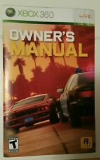 Xbox 360 Midnight Club Los Angeles Instruction Booklet Insert Only Microsoft