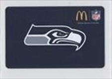 SEATTLE SEAHAWKS MCDONALDS GIFT CARD SPECIAL EDITION RARE LIMITED UNUSED