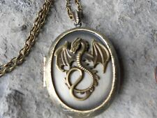 BRONZE DRAGON LOCKET - DUNGEON AND DRAGONS, DRAGON GIFT, DRAGON COLLECTORI!!