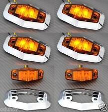 8x LED lato Color ambra Cornice cromata luci di posizione 24V per Camion Furgone