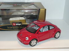 Nouveau 1:18 bburago made in italy volkswagen new beetle bug red kafer kdf turbo tdi