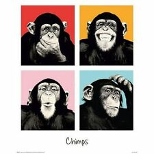 CHIMPS - POP ART POSTER - 16x20 COMPILATION MONKEY 22143