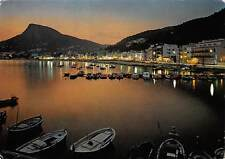 Spain Costa Brava Estartit vista nocturna, boats, bateaux 1977