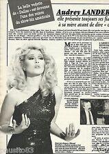 Coupure de presse Clipping 1984 Audrey Landers (1 page)