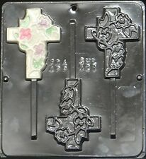 Cross Pop Lollipop Chocolate Candy Mold Religious  421 NEW