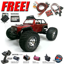 Thunder Tiger e-MTA Kaiser RTR 1/8 Monster Truck 4WD (RED) w/ Radio + Free LED