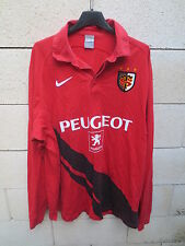 VINTAGE Maillot STADE TOULOUSAIN Nike shirt rugby 2009 rouge XXL Toulouse 2XL