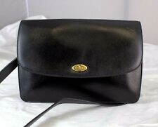 Vintage Authentic Coach Black Leather Cross-body Shoulder bag  Purse - Italy