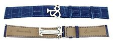 Genuine Jacob & Co. 22mm Blue Alligator Leather Watch Band Strap