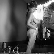 1960s Nude Pinup Roberta Pedon Standing in Tub lathered up 8 x 8 Photograph