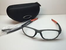 Oakley Crosslink Satin Grey Smoke Frames Rx Eyeglasses OX8067-0456 W/Case 56/18