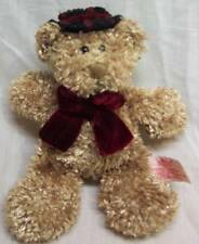 """RUSS Circle of Beauty TEDDY BEAR WITH HAT & BOW 7"""" Plush STUFFED ANIMAL Toy"""