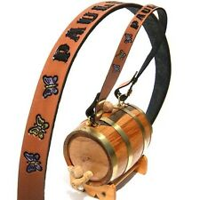 Saint Bernard Keg Barrel Dog Custom Personalized Leather Collar Brandy Rescue St
