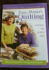 Fons & Porters Love of Quilting Quilting Notebook Winter Stars Sewing DVD