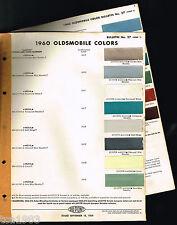 1960 Oldsmobile / Olds COLOR CHIP CHART Paint Sample Brochure: DuPont