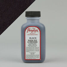 Angelus BLACK SUEDE DYE 3oz Bottle Industry Strength Dye Vibrant Colors