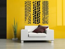 Wall Room Decor Art Vinyl Decal Sticker Mural Tire Track Print Trace Large AS334