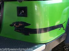 EZGO Club Car Yamaha dachshund Decal Decals Go golf Cart graphics Window Decal